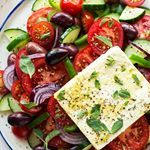 Happy Tuesday, guys!! Before I chill out with my 🐈 in our exceptionally sunny 🌞 garden, here is a quintessentially summer dish #vegangreeksalad with a slab of #homemade #veganfeta (#recipe link in my bio 👈) that is easy to make , #soyfree, #oilfree and utterly delicious 😋 #bestofvegan #feedfeed @thefeedfeed.vegan #vegansofig #vegansofinstagram #veganfoodshare #veganfood #vegancheese #dairyfree #dairyisscary #veganfoodspace #whatfatveganseat #whatveganseat #lunchinspo #dinnerinspo #greekfo...