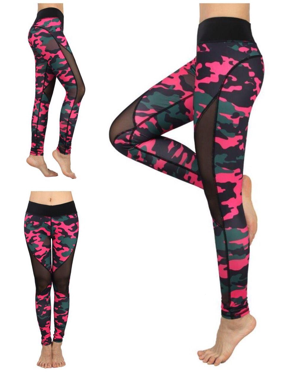 6106d801edc7e Mesh Camouflage Leggings in 2019 | Workout, Fitness, Yoga Leggings ...