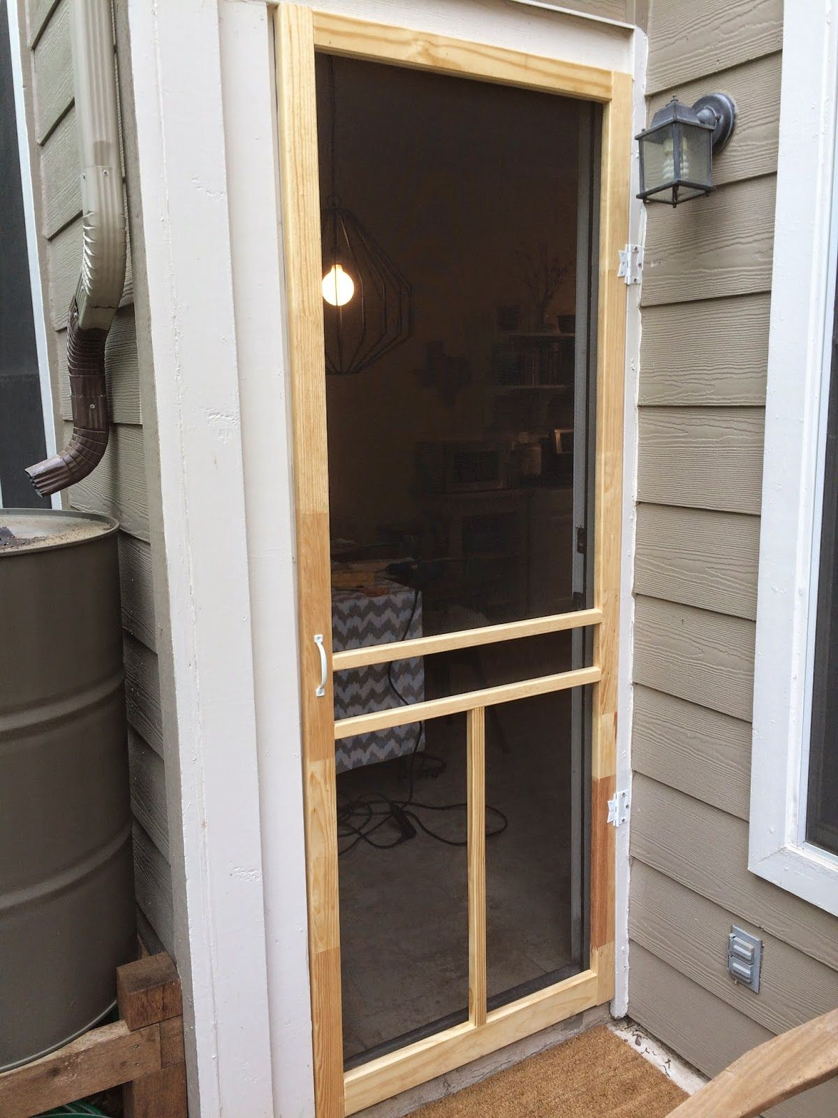 This House Is Our Home Explains How To Very Inexpensively Create A  Beautiful Screen Door For