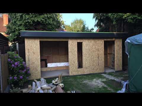 Garden Office Build Uk 2018 19 Youtube Garden Office Shed Garden Office Office Building
