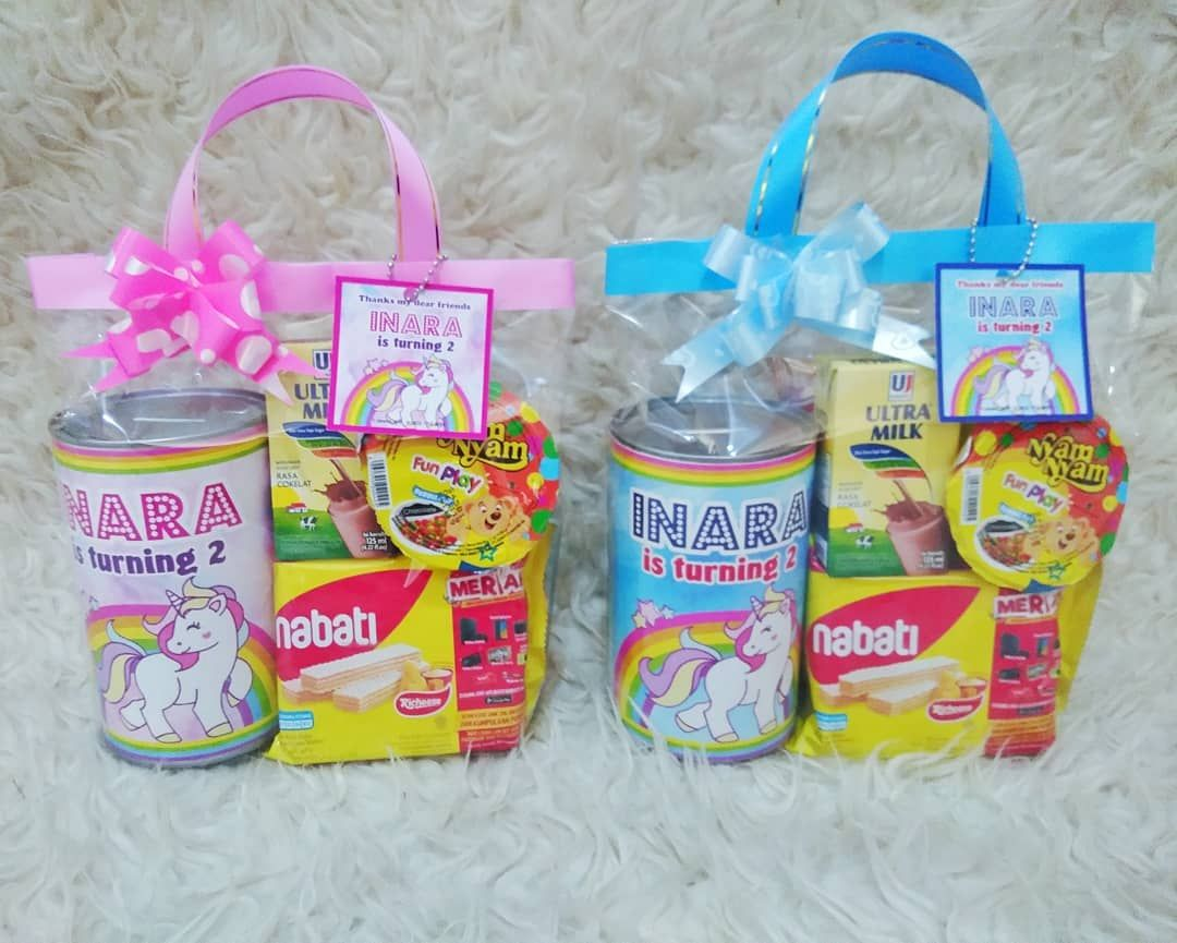orderan souvenir celengansnack inara birthday tema