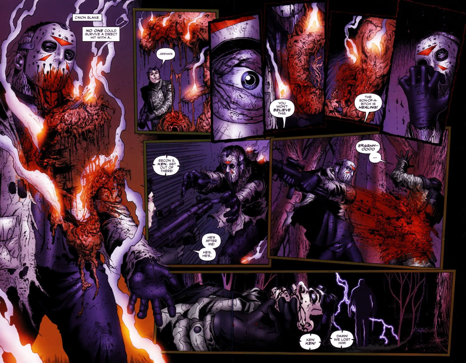 Image result for Jason taking a grenade comic