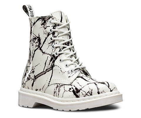 DR MARTENS PASCAL MARBLE BOOT | Leather