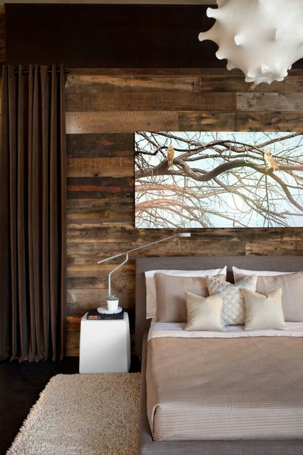 Wooden bedroom decorations Wohnen Pinterest Melange, Tete de