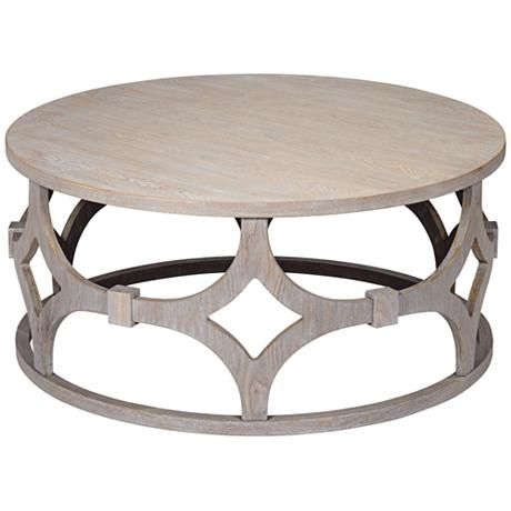 Lanini Gray Wash Round Coffee Table