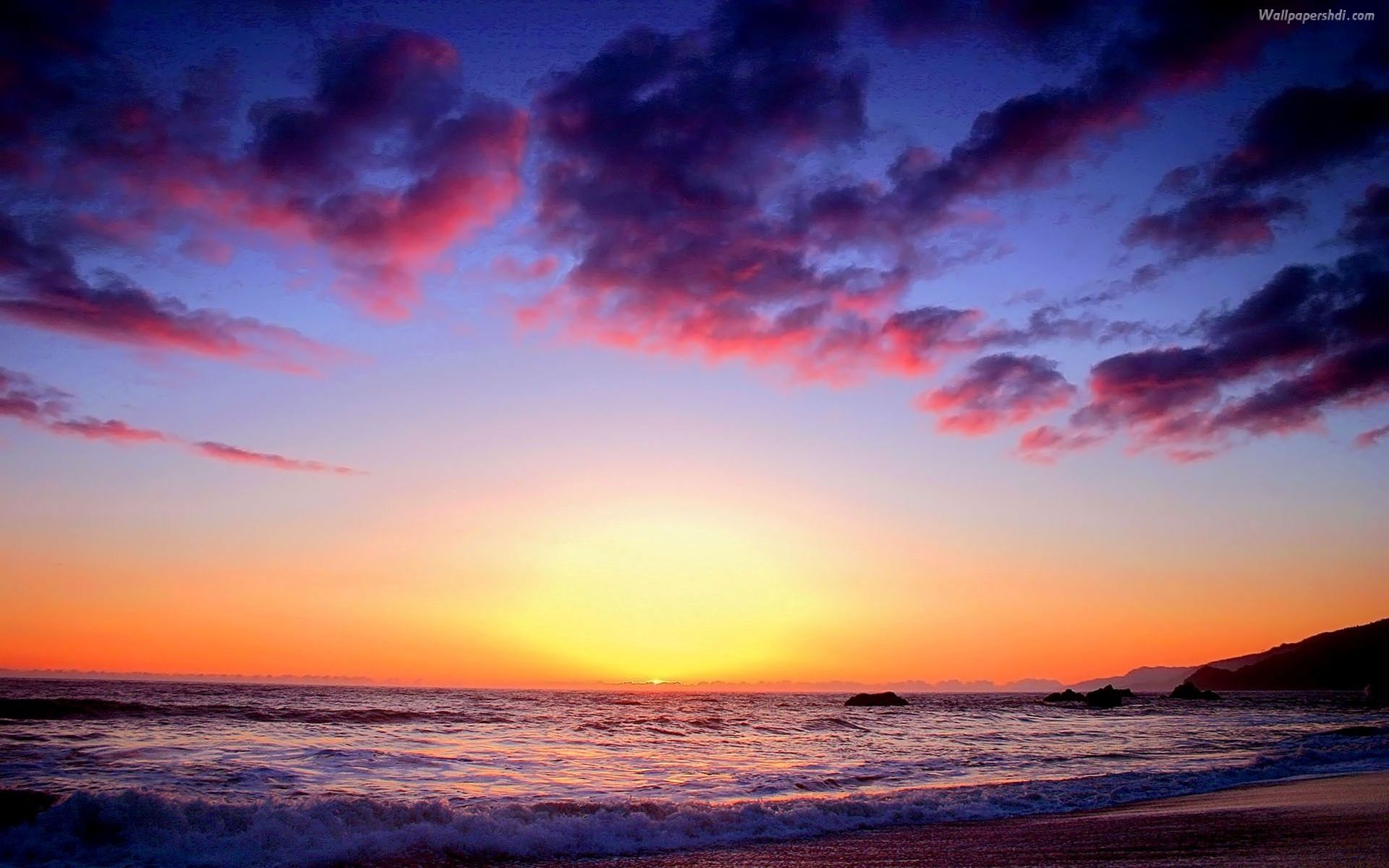 Pictures Of Sunsets At The Beach
