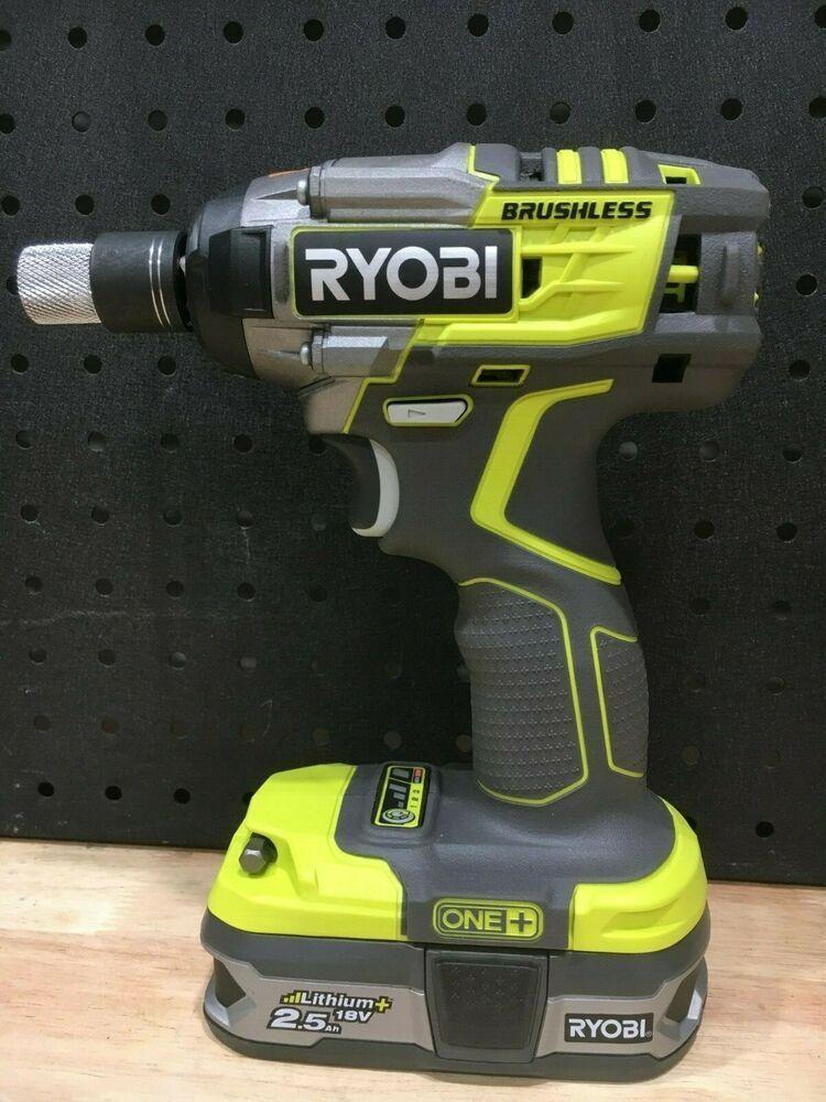 Ryobi One 18v Cordless Brushless Impact Wrench Kit New Never Used