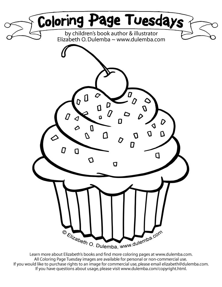 Sparkle Cupcakes Printable For Kids And Families Coloring Pages