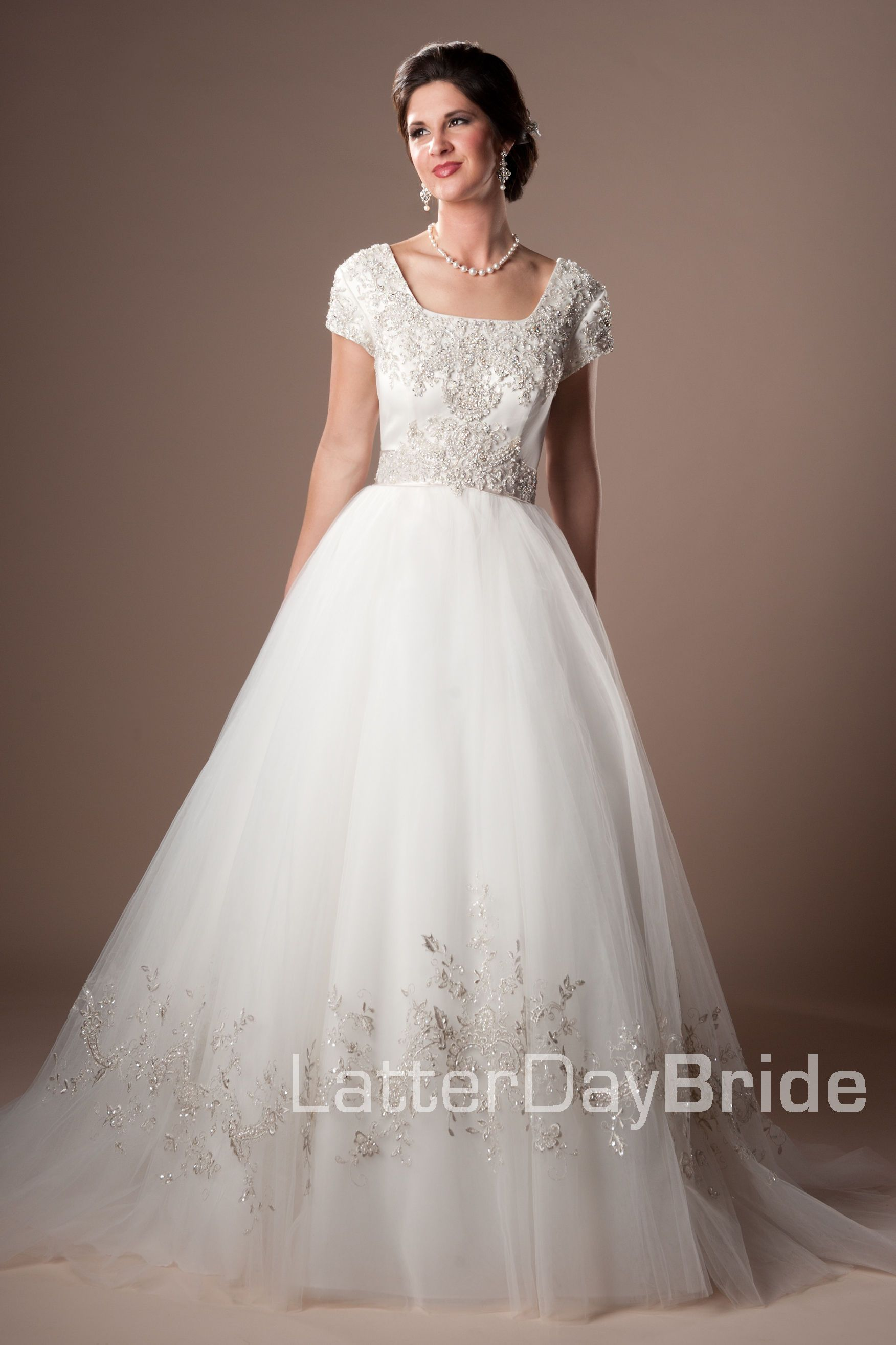 Modest Wedding Dress Elisamarie Latterdaybride Prom Modest