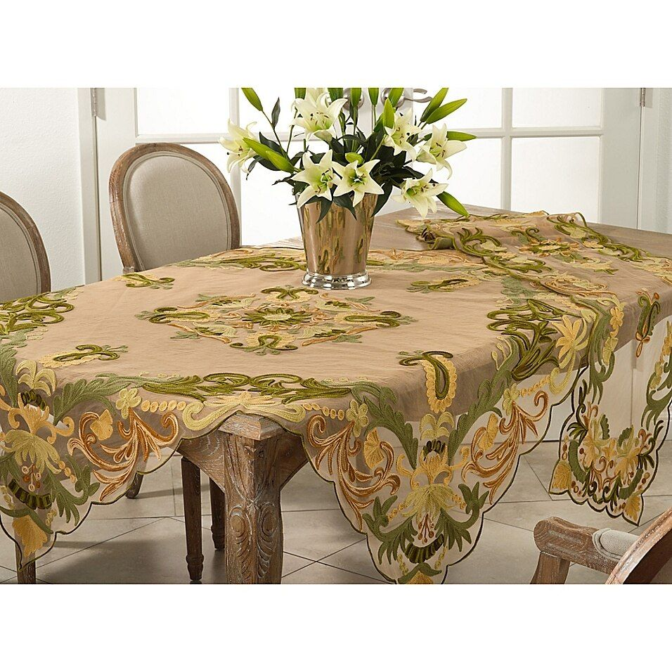 Saro Lifestyle Alessandra Table Runner Bed Bath Beyond Embroidered Table Runner Table Cloth Tuscan Table