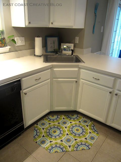 Review DIY Floor Mats Can t wait to do this one No sewing involved I seriously need to make several of these Super simple non slip coated and I have tons of Inspirational - Popular yellow kitchen rugs In 2018