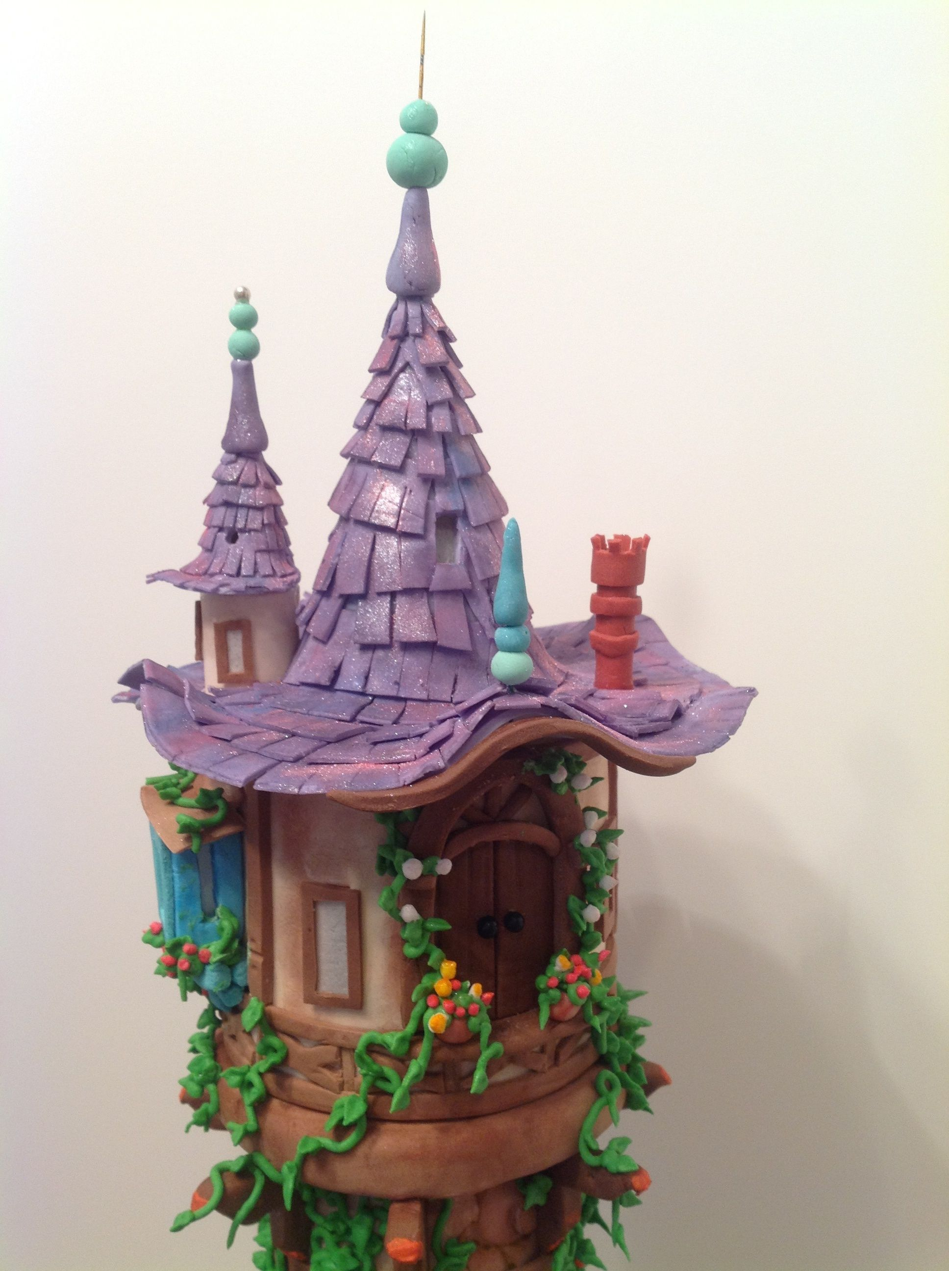 tangled tower cake tutorial