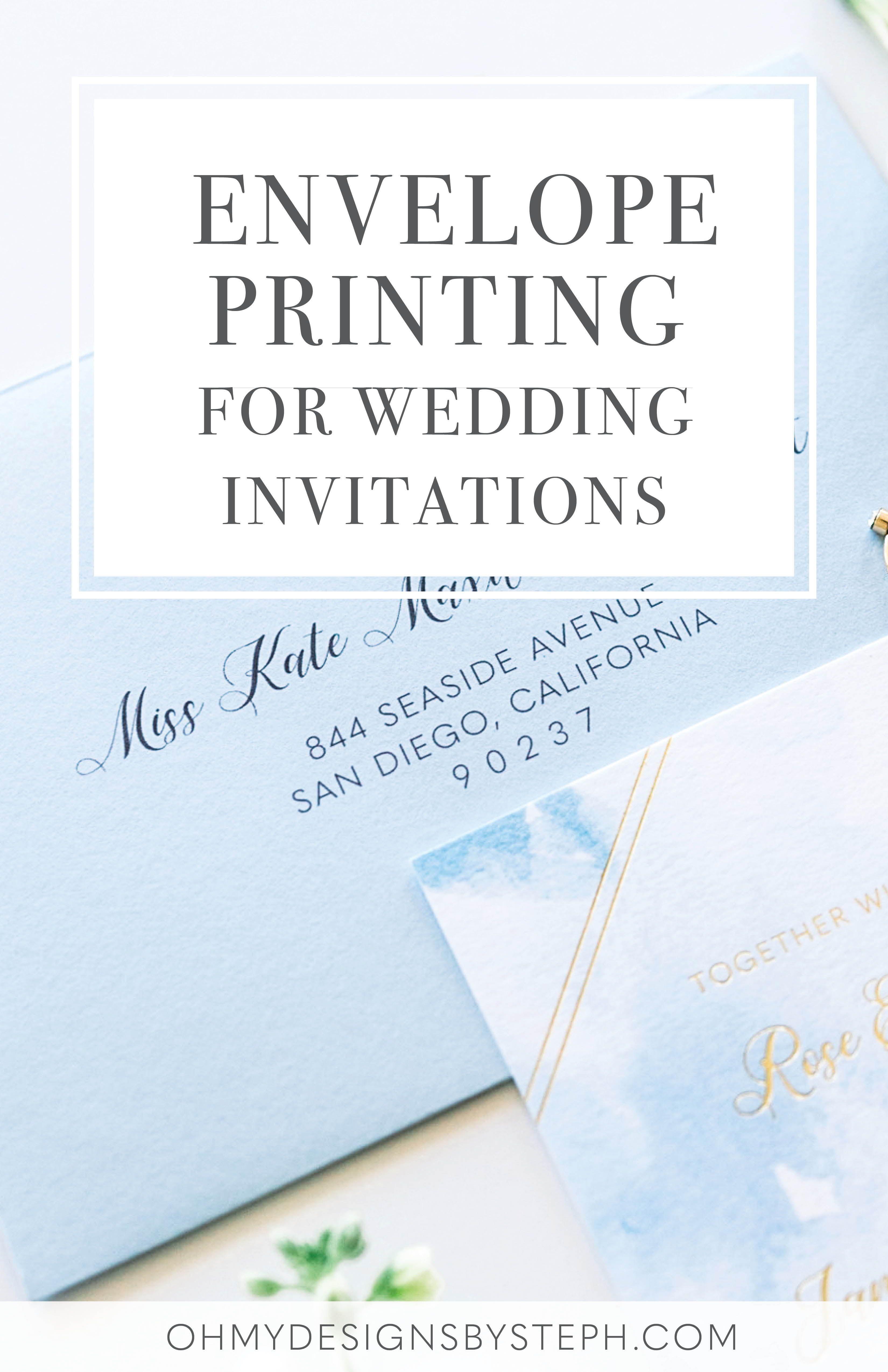 Envelope Printing for Wedding Invitations Printing