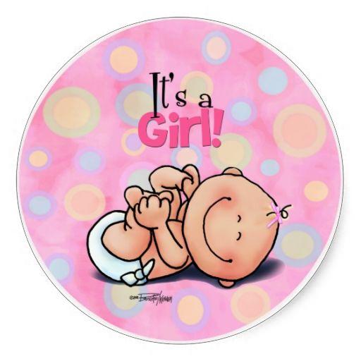 Its a Girl! Classic Round Sticker | Zazzle.com