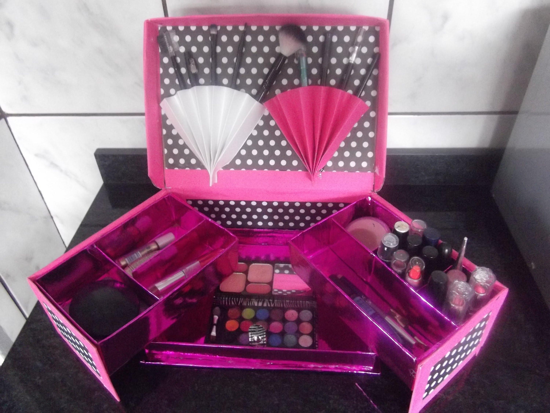 Muitas vezes organizador de maquiagem com caixa de sapato   Cartón y papel  SF85