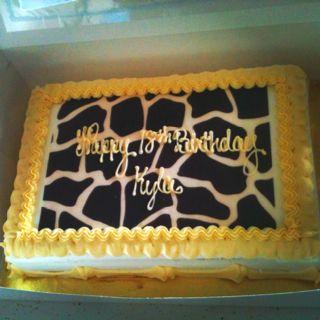 Giraffe 18th birthday
