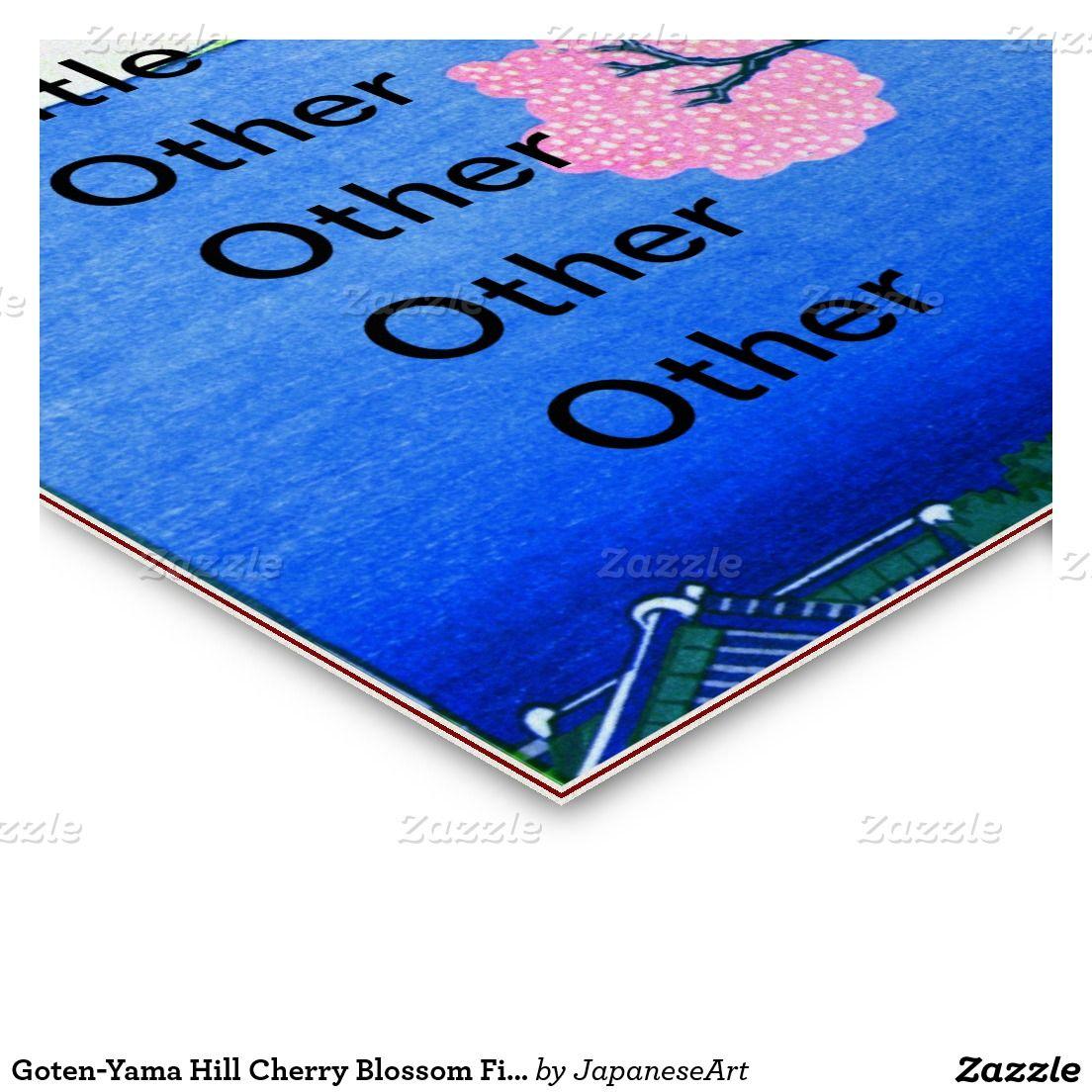 Goten-Yama Hill Cherry Blossom Fine Art Double-Sided Standard ...