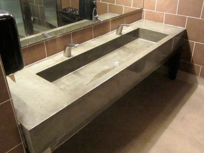 Poured Sink And Counter Decor Of This Lovely Home Used