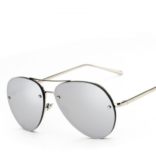 Aviation Metal Frame Mirror Designer Pilot Oval Sunglasses – eFashionova