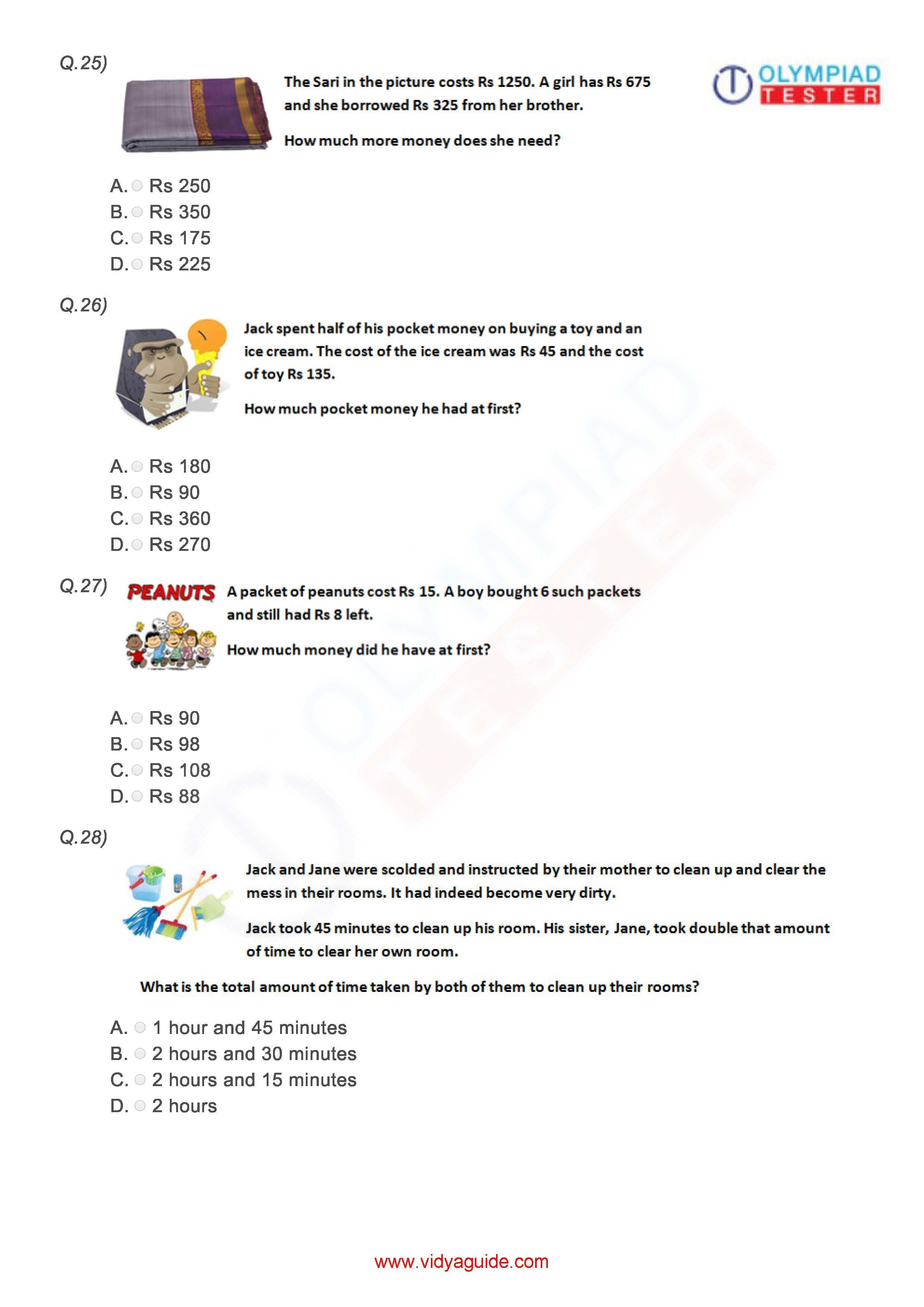 Download these printable Grade 3 Mathematics worksheets or ...