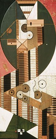 Polychrome Wood Relief No. 212 - Abe Ajay