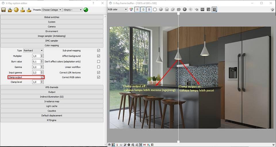 Setting Vray Options Sketchup Versi Dedi Tan Link Studio Design