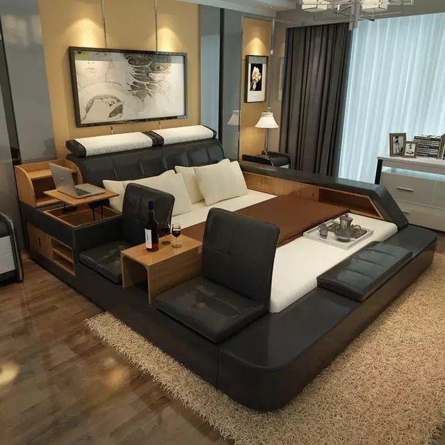 Buying Bedroom Furniture: Bedroom Furniture Sets Modern Leather Queen Size Storage