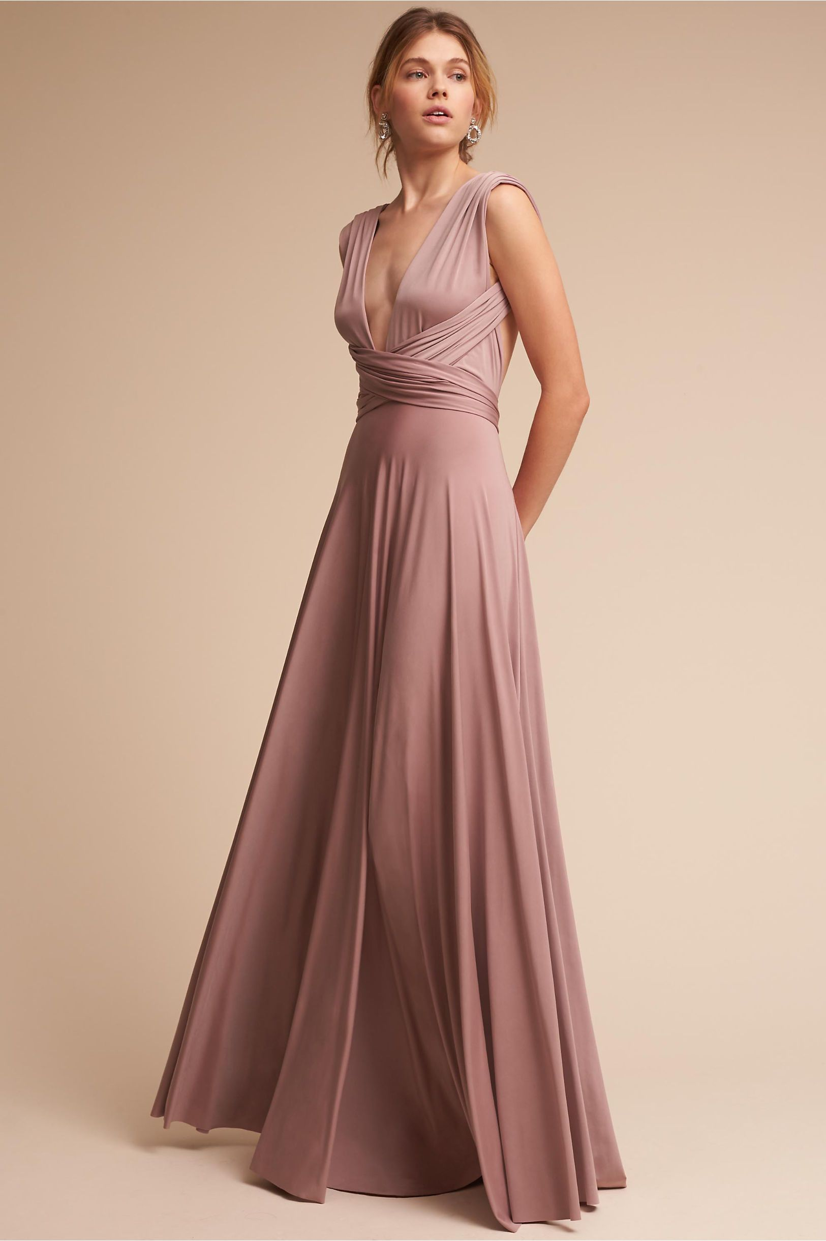 BHLDN Ginger Convertible Maxi Dress Heather in Occasion Dresses  16447eddc8c5