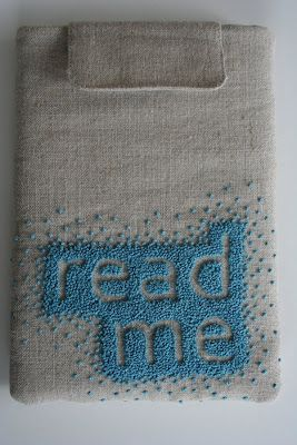 Read Me Cover in French Knots