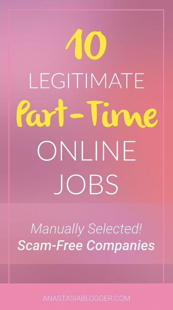 10 part time online jobs start making money at home legitimate