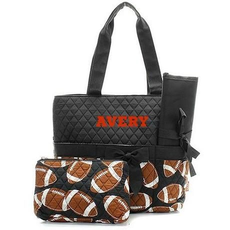 Personalized Diaper Bag Quilted Baby Tote Changing Pad
