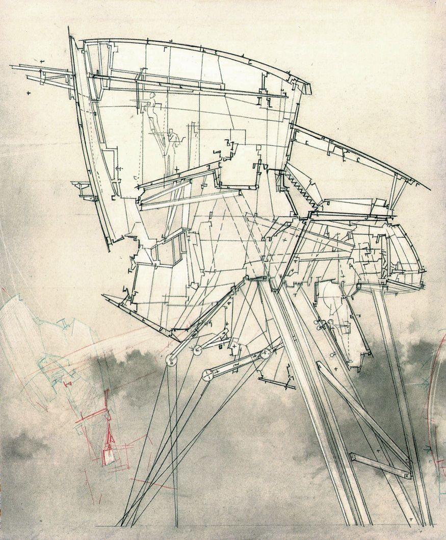Very subtle fills past the cutting line house drawing house sketch architecture design