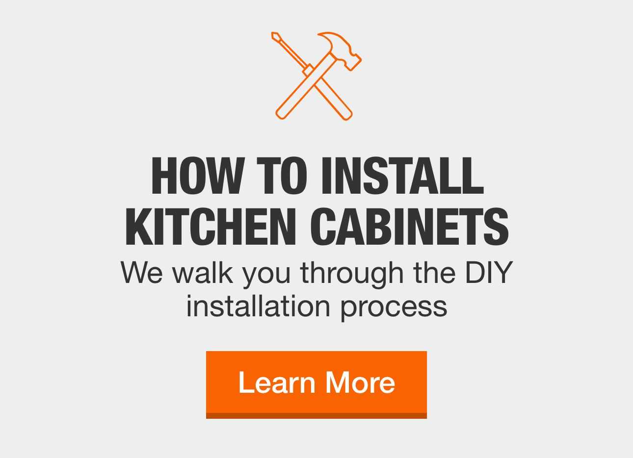 Kitchen Cabinets at The Home Depot   Installing kitchen ...
