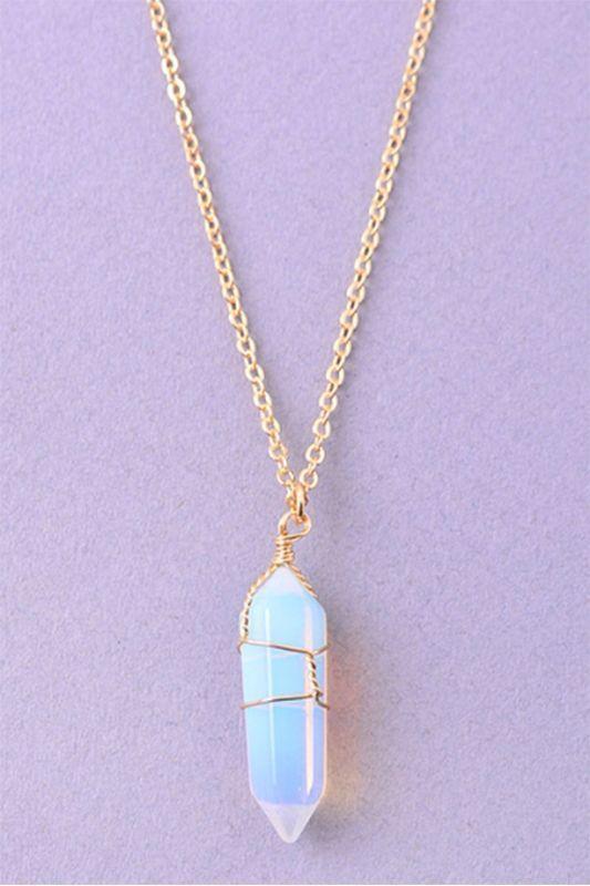 Irisierende Kristallkette