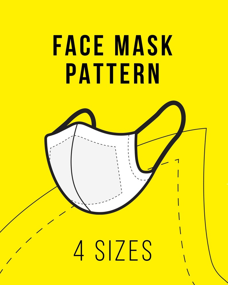 Face Mask Sewing Pattern with Filter Pocket Easy DIY
