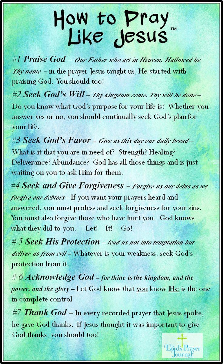 How to pray like jesus Bible prayers, Prayers
