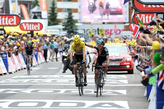 Porte supported Froome all the way to the line