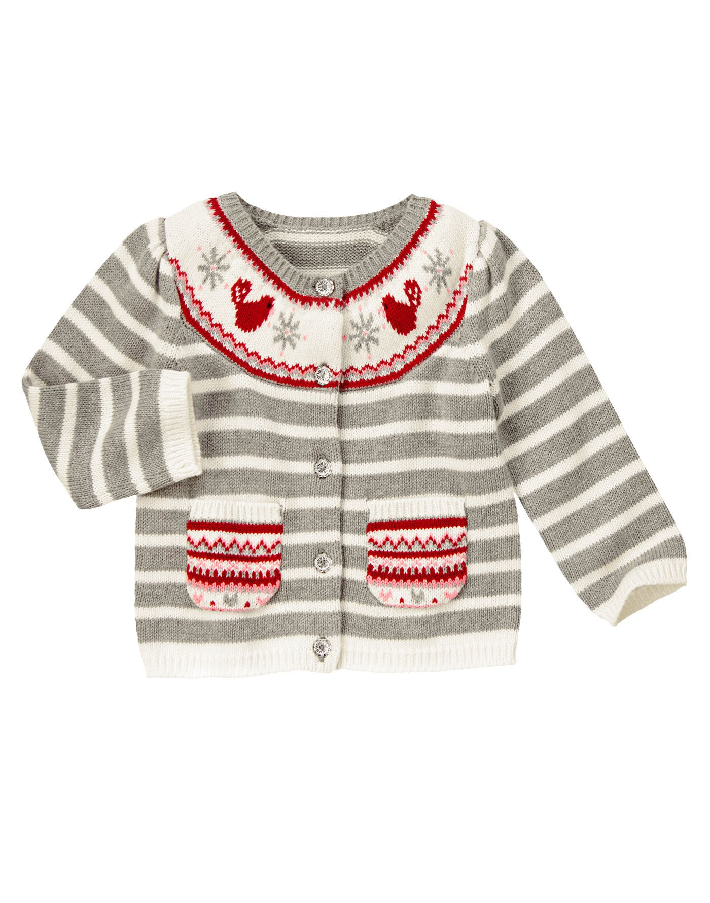 1d39e7118 Cozy cutie. Sweet cardigan is brightened up with birdie and ...