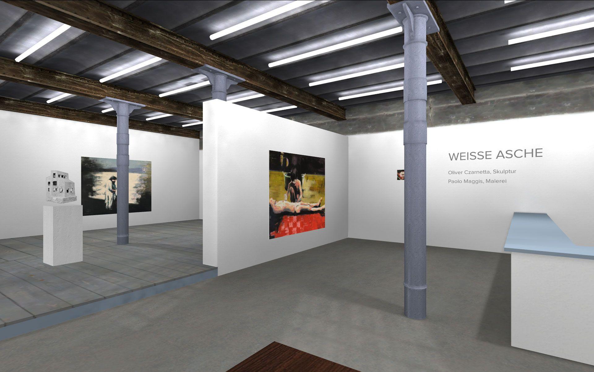 walkthrough virtual 3D online gallery by Queen Anne. powered by 3D STELLWERK Leipzig.