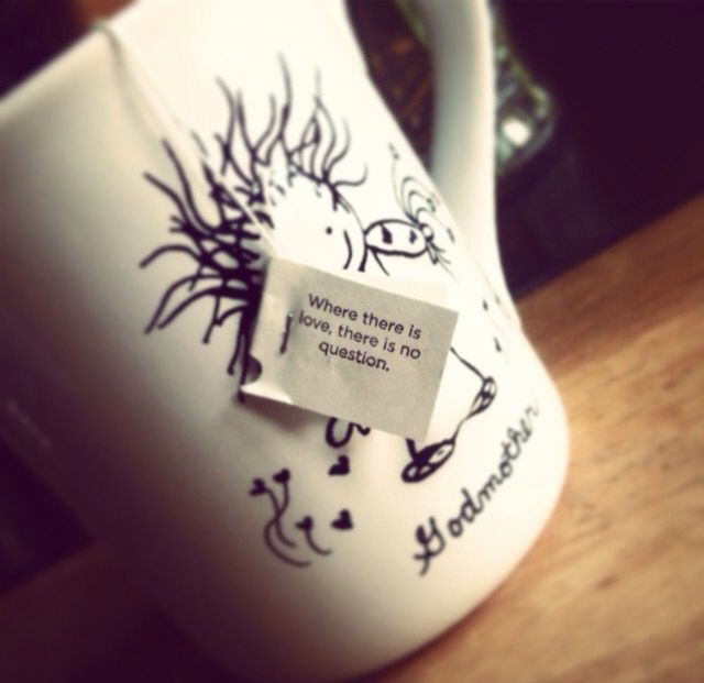My godmother mug with Yogi Tea--I love that tea brand and their tea bag messages are always so intuitive and uplifting