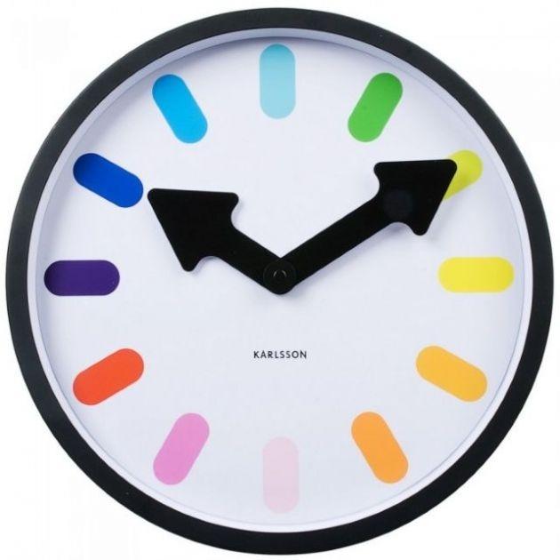 horloge design colorée art pinterest