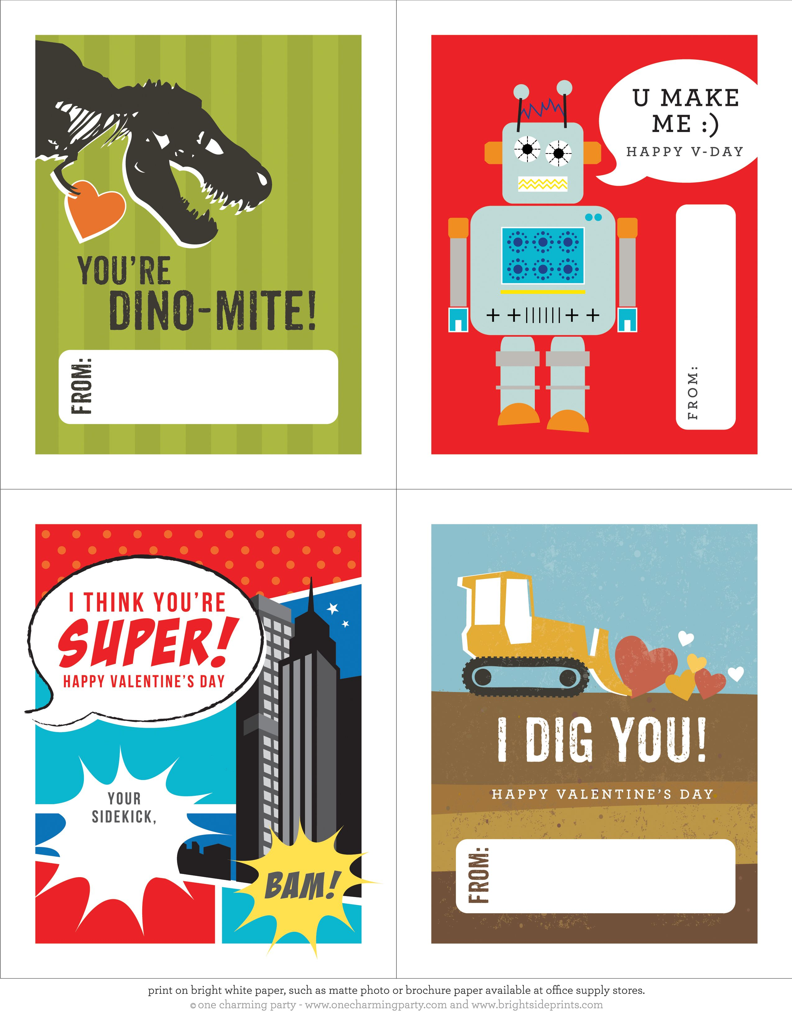 need a last minute valentine days cards for the classmates in your sons class this - Boy Valentine Ideas