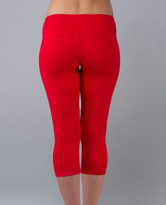 6ab58b30b Nina.B.Roze Heart Butt CapriCrimson Red by NinaBRoze on Etsy