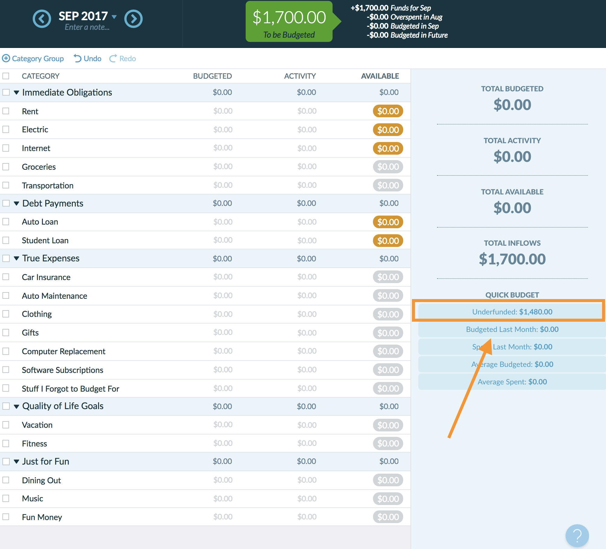 How To Create A Budget Template In Ynab