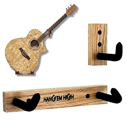 Angled Guitar Hanger For Acoustic Guitars Bare No Finish To View Further For This Item Visit The Image Li Guitar Wall Hanger Guitar Wall Holder Guitar Wall