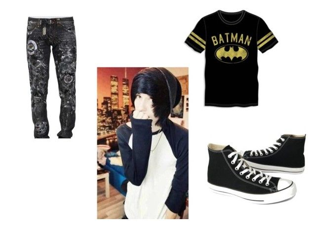 Typical Day By Lizthenighmare On Polyvore Featuring Bioworld Philipp Plein Converse Men S Fashion Menswear Batman Emo A Clothes Design Menswear Fashion