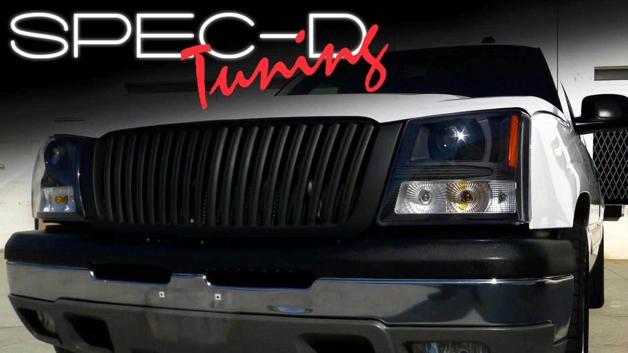 Specdtuning Installation Video 2003 05 Chevrolet Silverado Projector 2003 Chevy Silverado Silverado Silverado Headlights