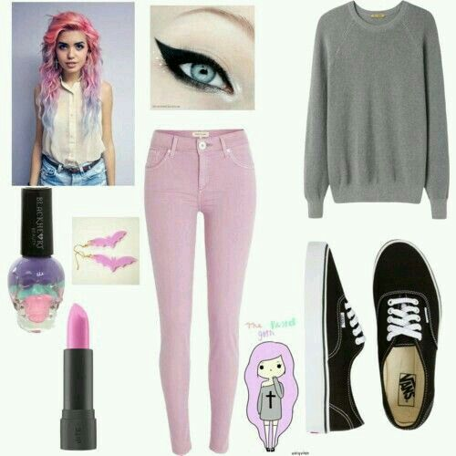 Pastel goth outfit, realy cute