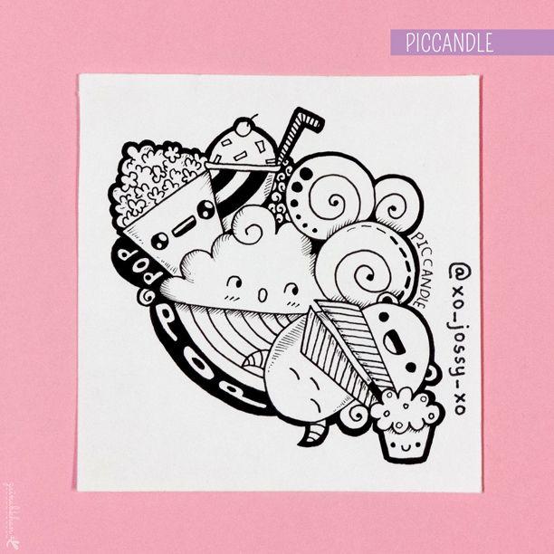 #instagram #doodle #drawing #cartoons #cupcake