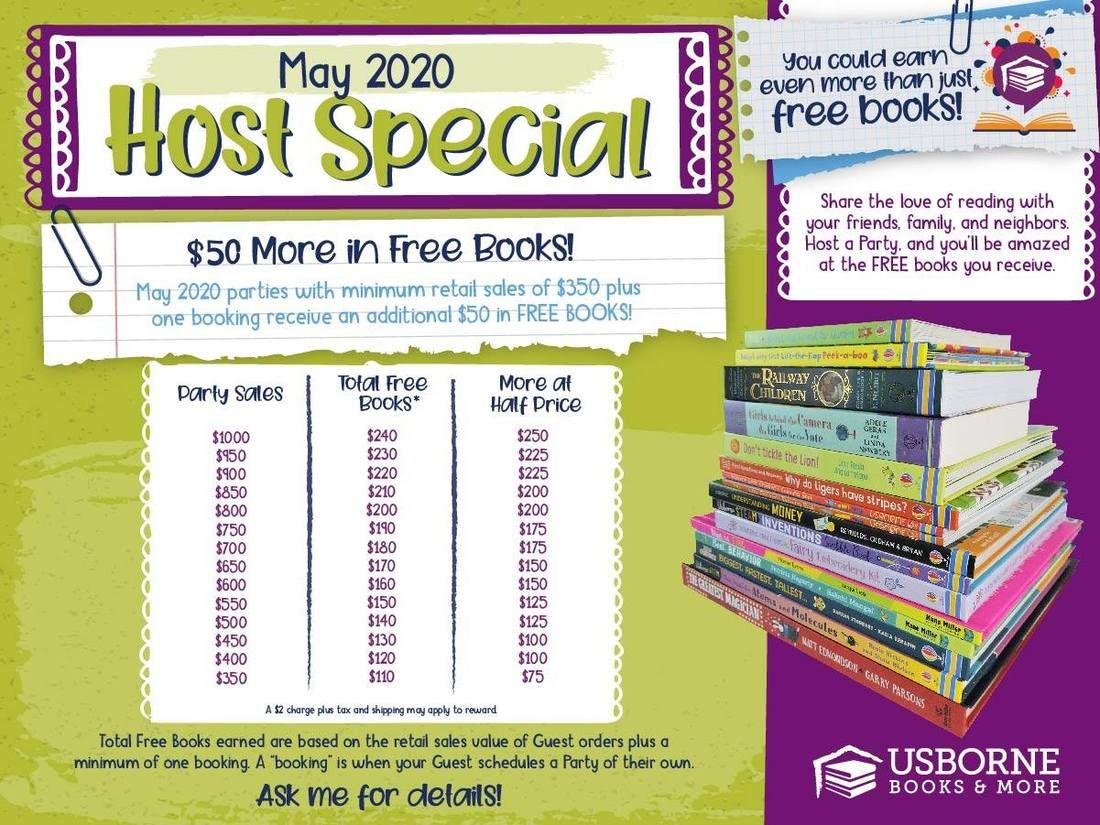Usborne Books More May 2020 Hostess Rewards Usborne Books Usborne Books